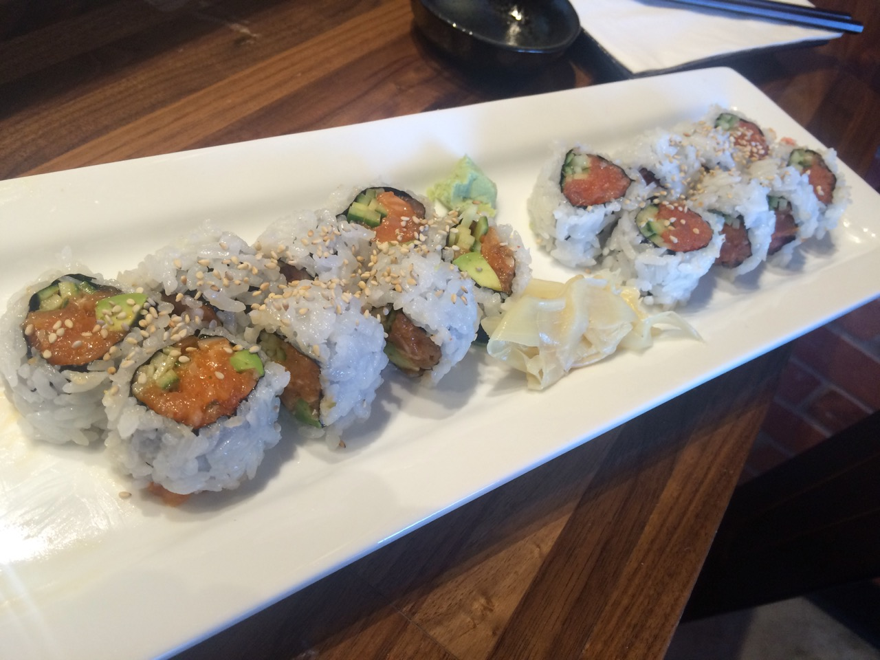 The Spicy Salmon Roll at Aki Sushi - October 18 2016