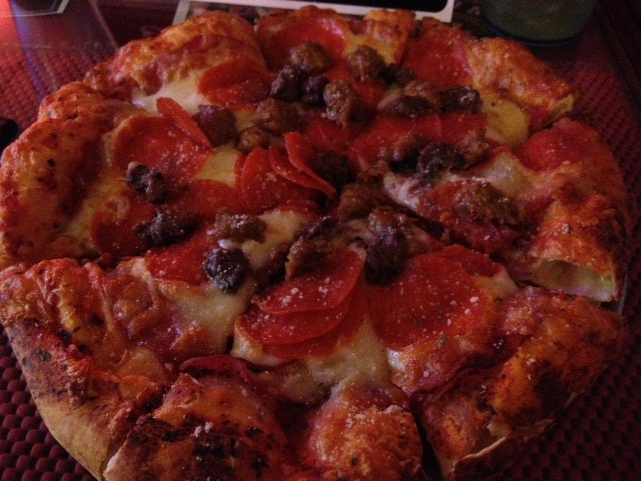 Pepperoni and Sausage Pizza at Brickhouse – November 21 2012