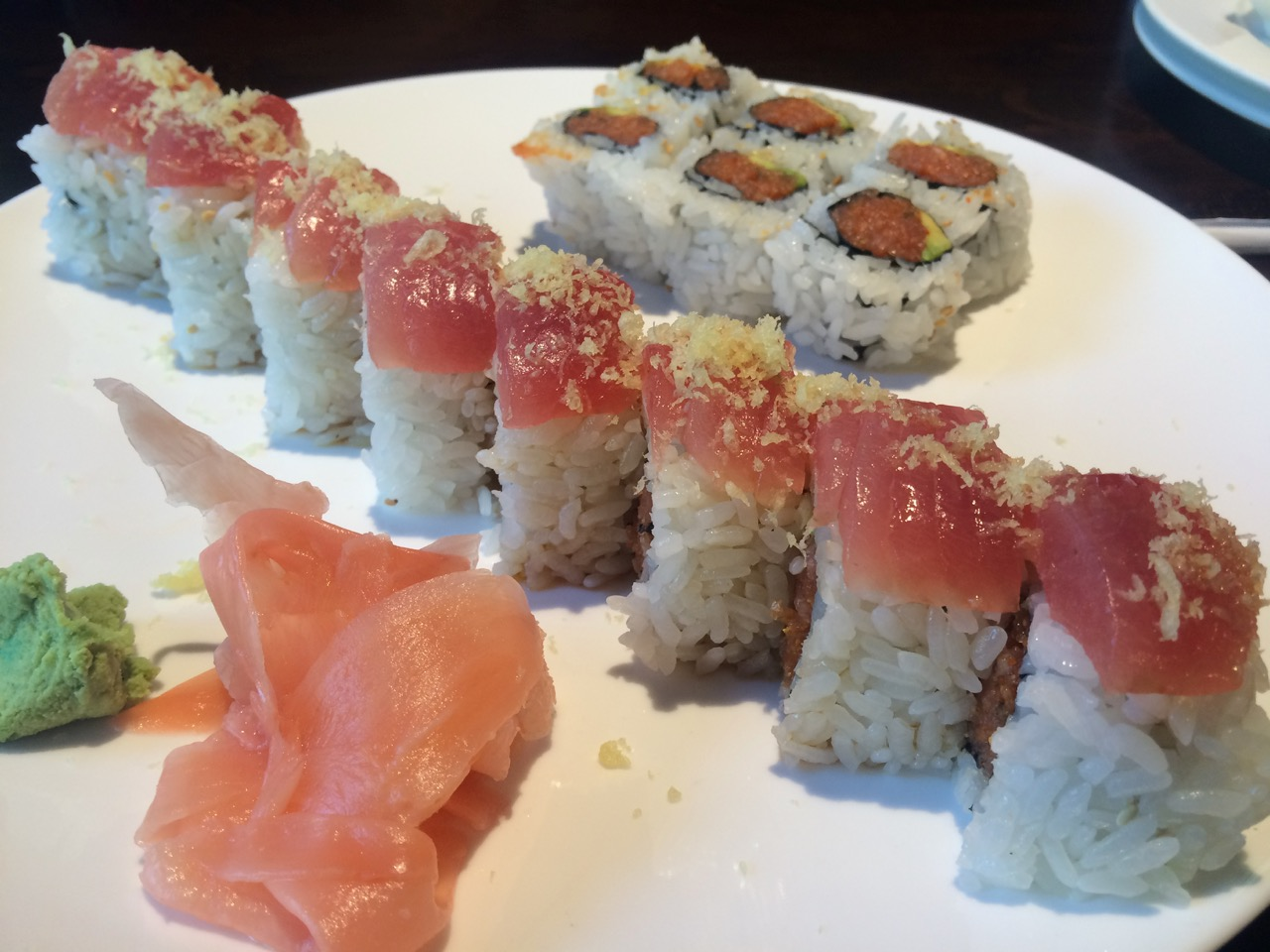 Sushi at Sakura Japanese Restaurant – November 11 2013