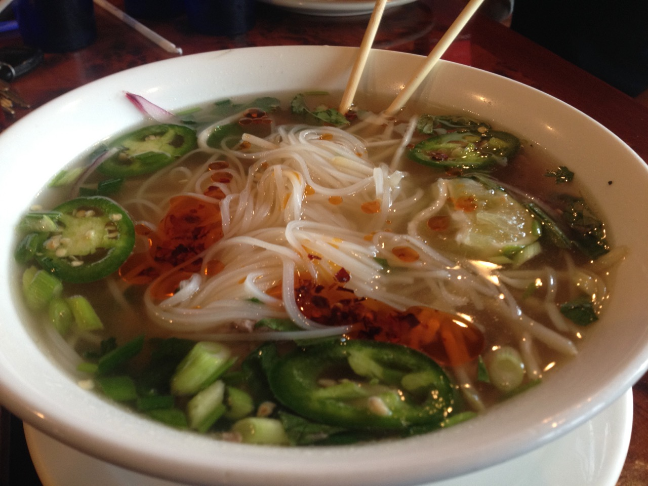 Pho and Vegetable Rolls at Bangkok Thai – July 28 2017