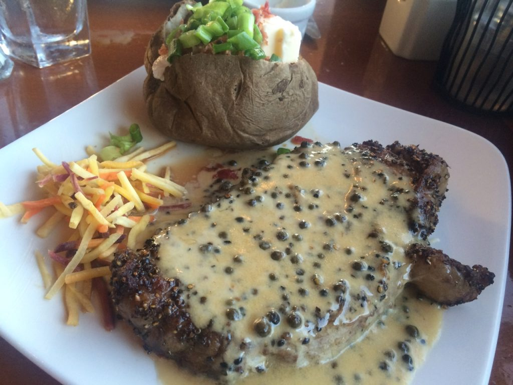 The Peppercorn Steak at Cedars – September 2 2009