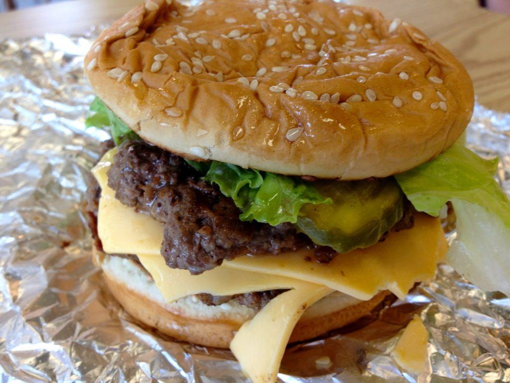 A Solid Bacon Cheeseburger & Shake at Five Guys  – June 5 2017