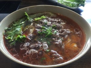 Garden Hot Pot – Spicy Beef Noodle Soup – September 13 2017