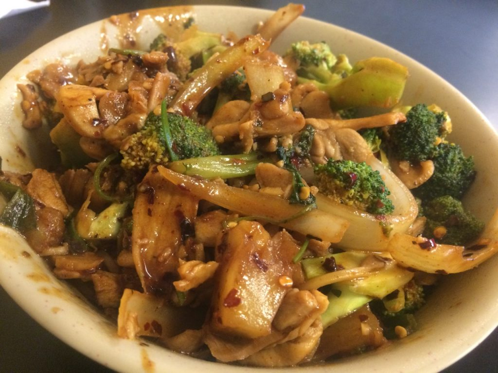 Chicken & Broccoli at Hong's Mongolian – October 26 2017