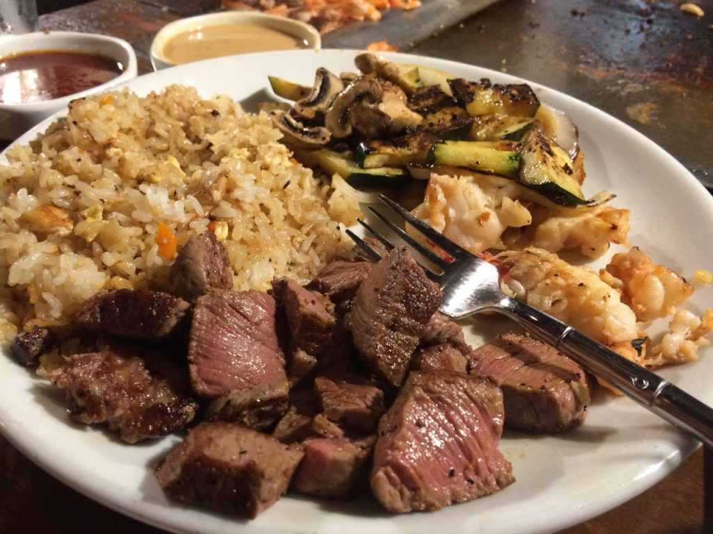 Dinner at Benihana's in Concord CA – October 20 2017 – Shot And A Beer