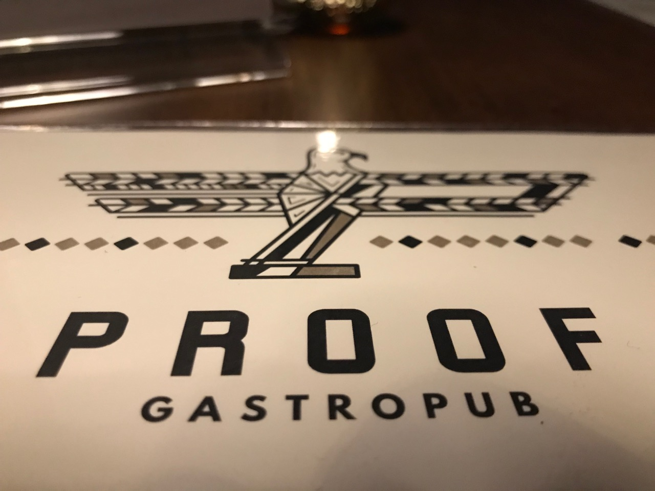 Dinner at PROOF – December 29th 2017