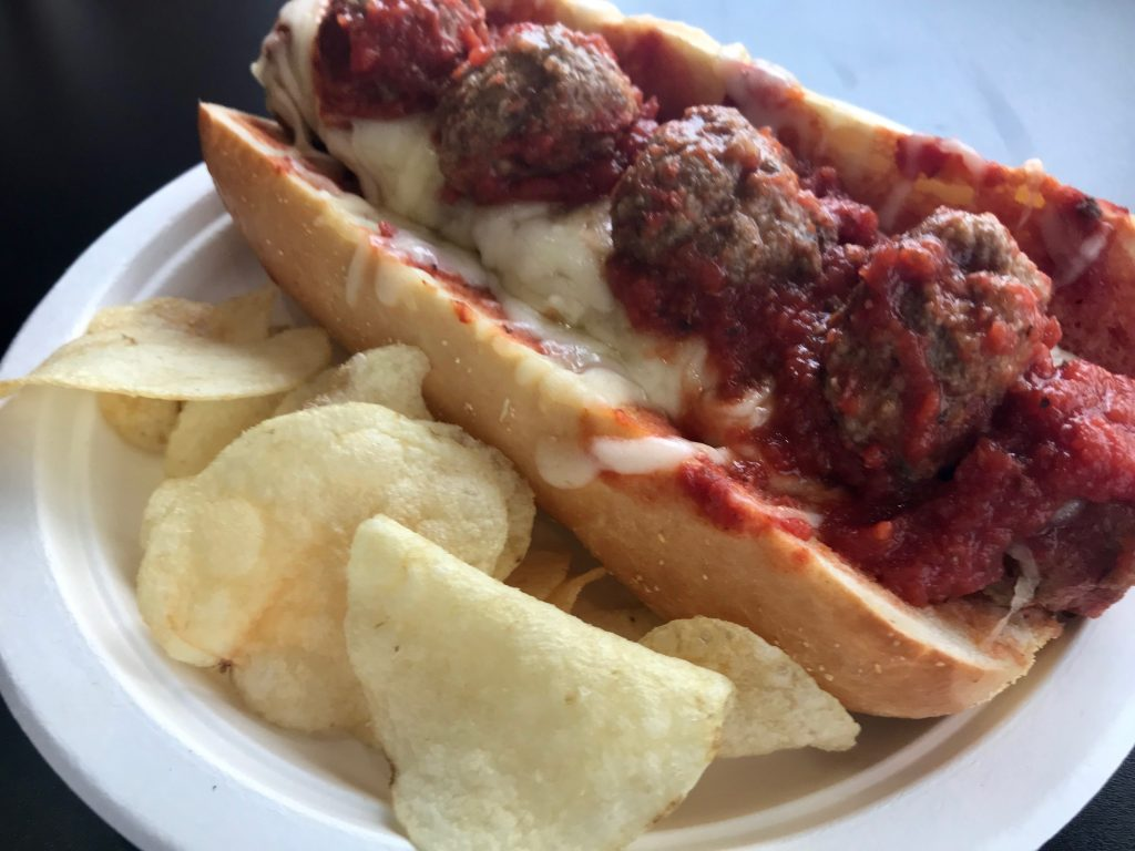 Meatball Sandwich at Eatz Pizza – February 3 2018
