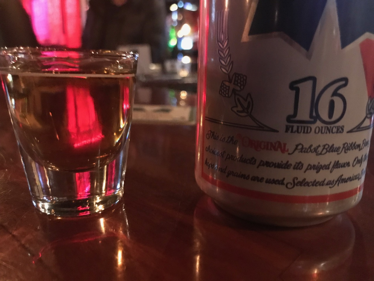 A Shot and a Beer at Dempsey's in Fargo, North Dakota - March 8 2018