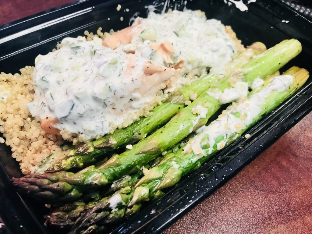Cucumber Dill Salmon w/ Asparagus & Quinoa – May 22 2018