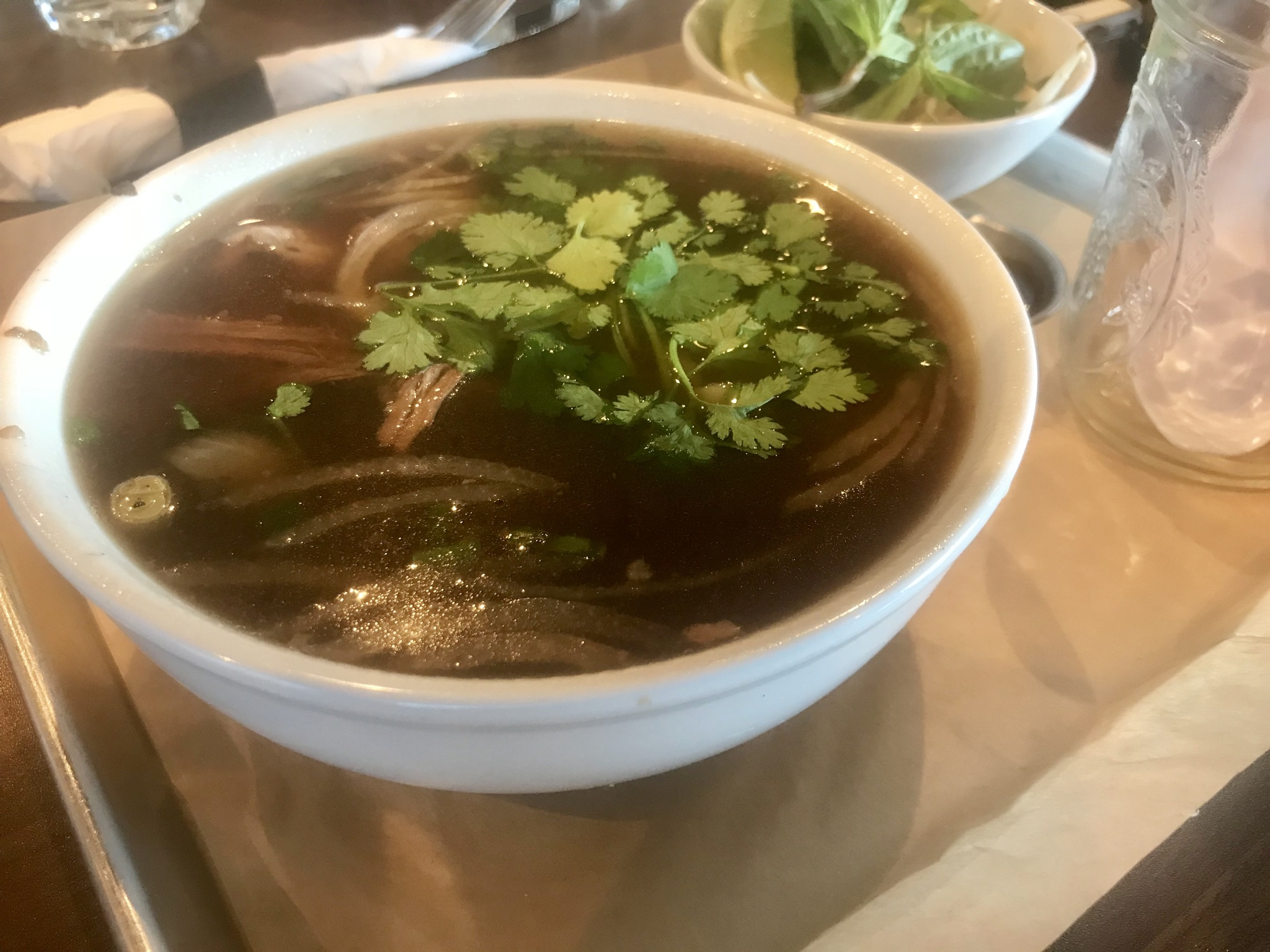 Beef Pho at The Edge Steakhouse - August 24 2018