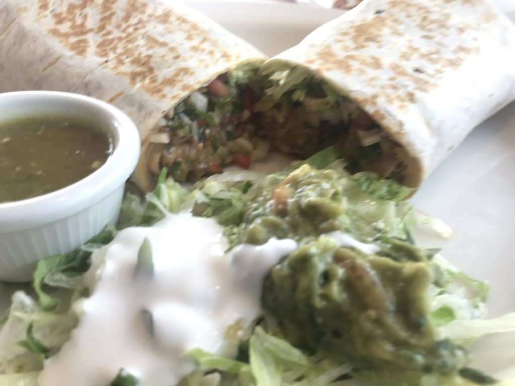 Rice, Bean, and Grilled Veggie Burrito at Chapala Express – August 16 2018