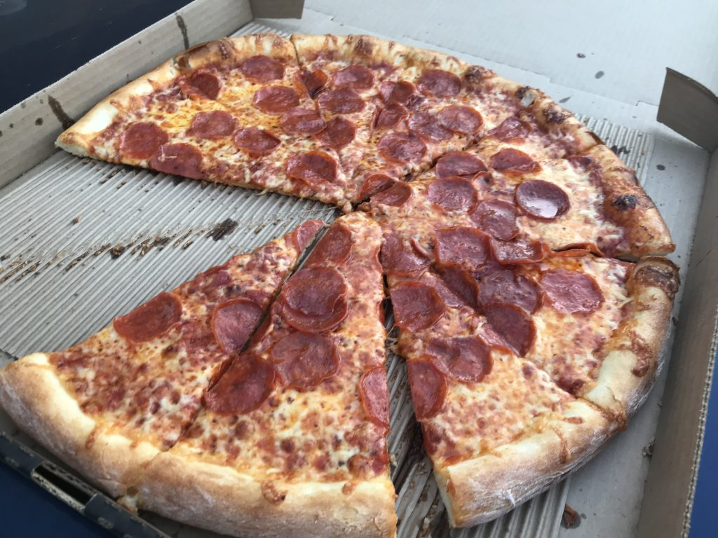 A Large Pepperoni from Westside Pizza in Bellingham – October 17 2018