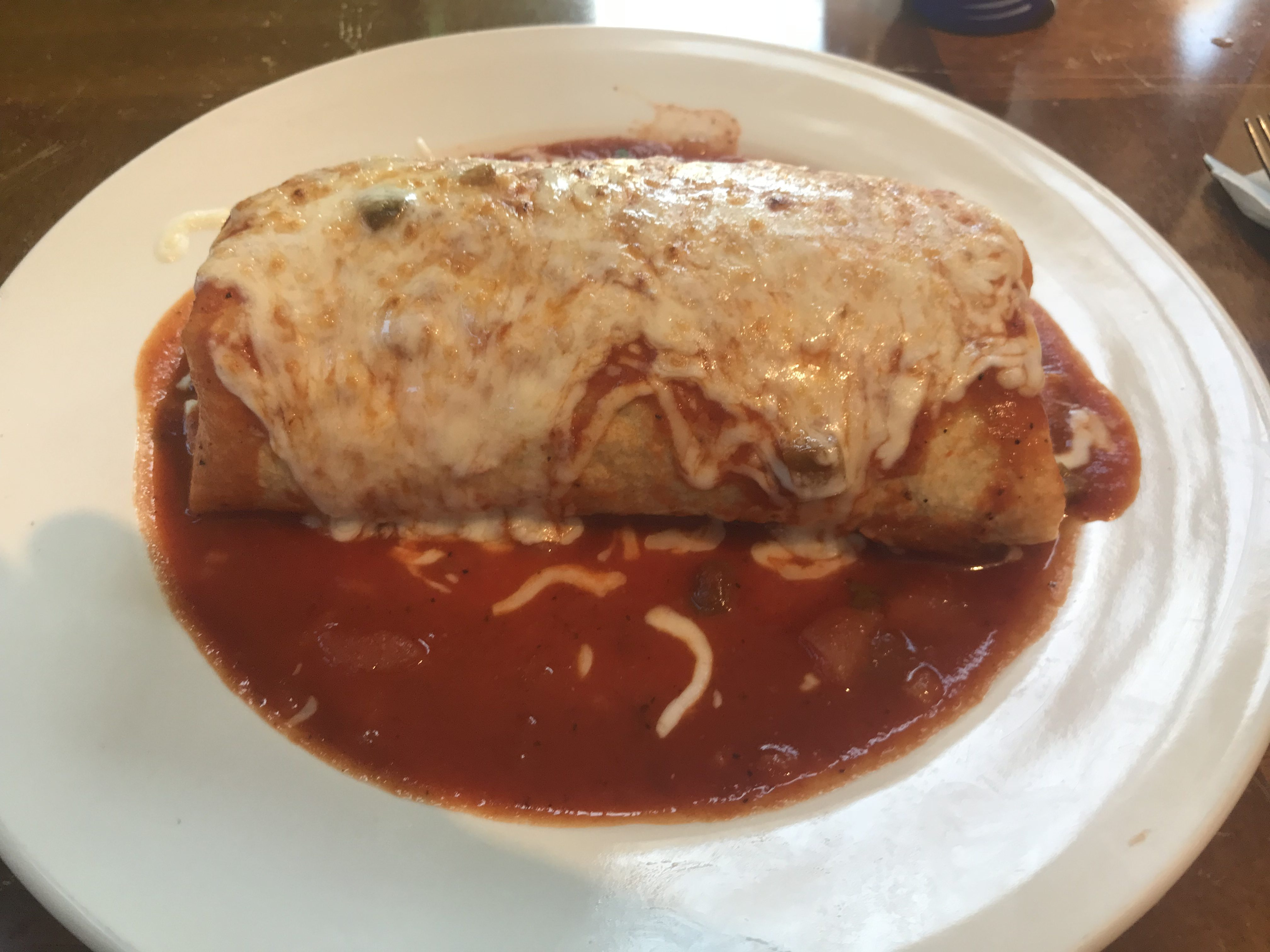 A Delicious Wet Burrito from California Tacos and Fresh Juices in Bellingham – October 18 2018