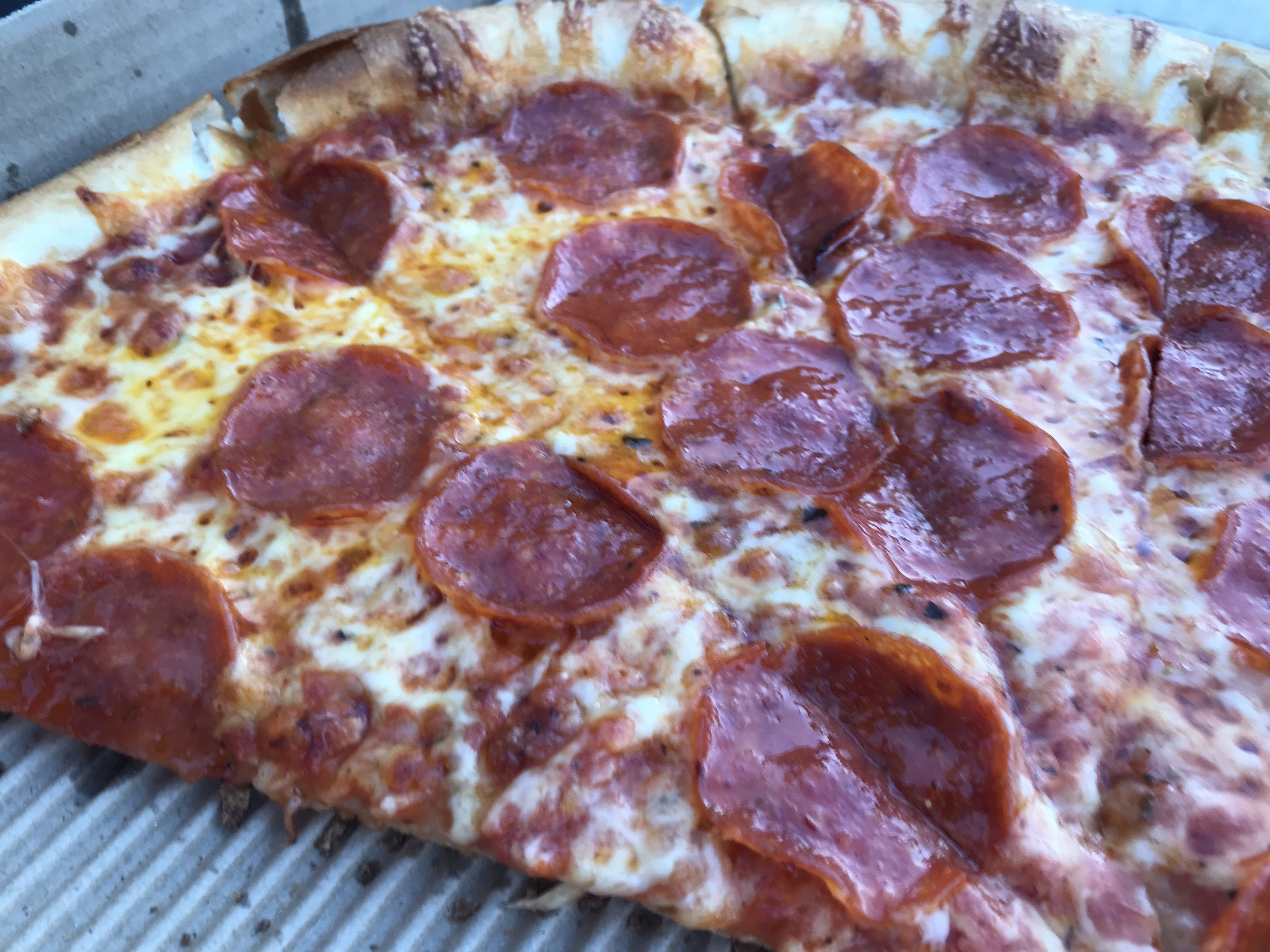 A Large Pepperoni Pizza from Pagliacci's in Kirkland – October 18 2018