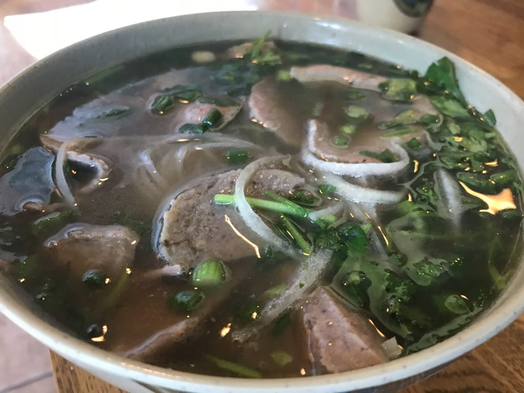 Beef Pho at Black Pearl Asian Fusion in Bellingham – October 17 2018