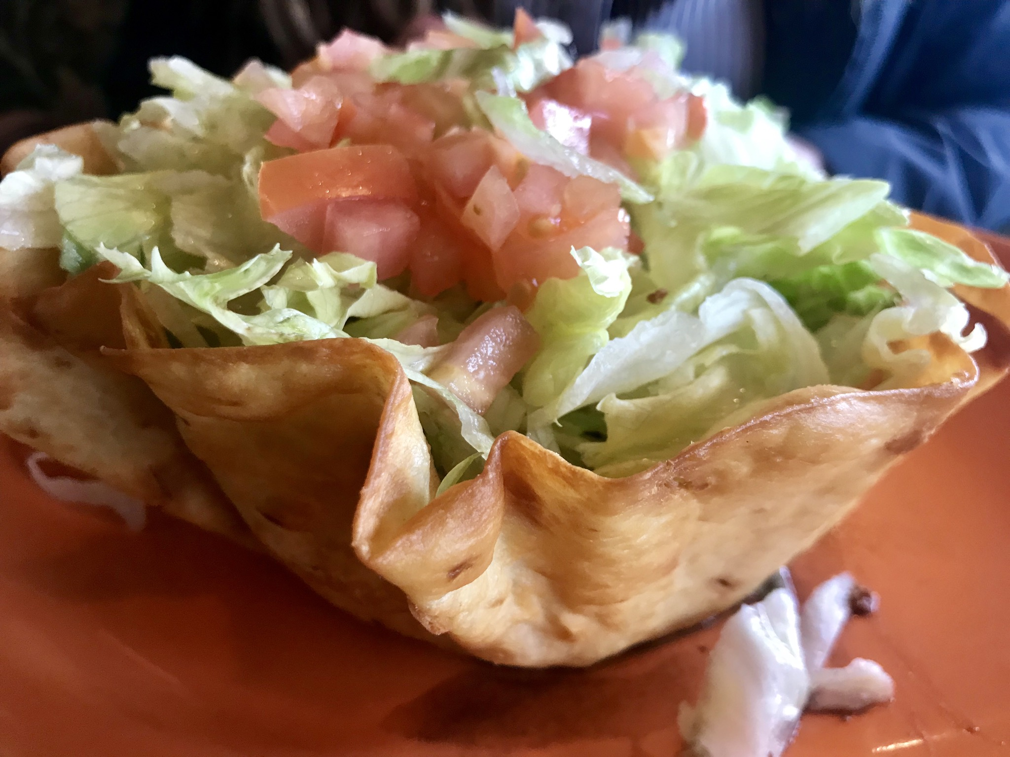 Beef Taco Salad at Inca Mexican Restaurant in Richland – November 27 2018