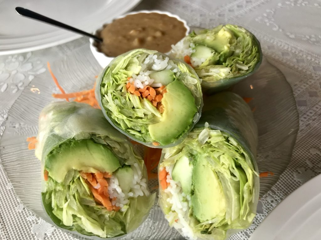 Avocado Rolls and Beef Pho at Thai Elephant in Kennewick – July 19 2019