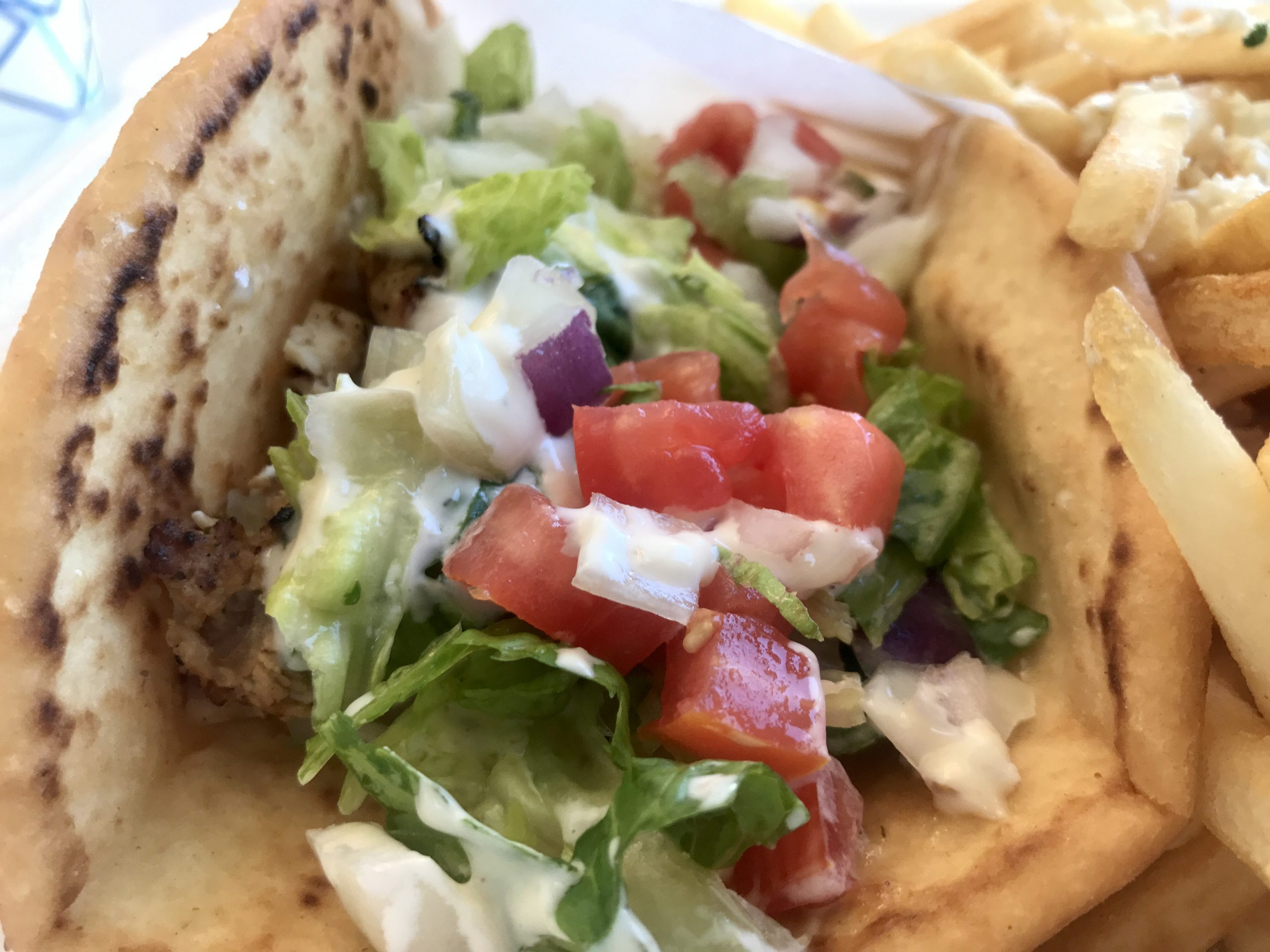 Chicken Gyro and Avgolemono Soup at Greek Islands Cuisine in Richland – October 29 2020