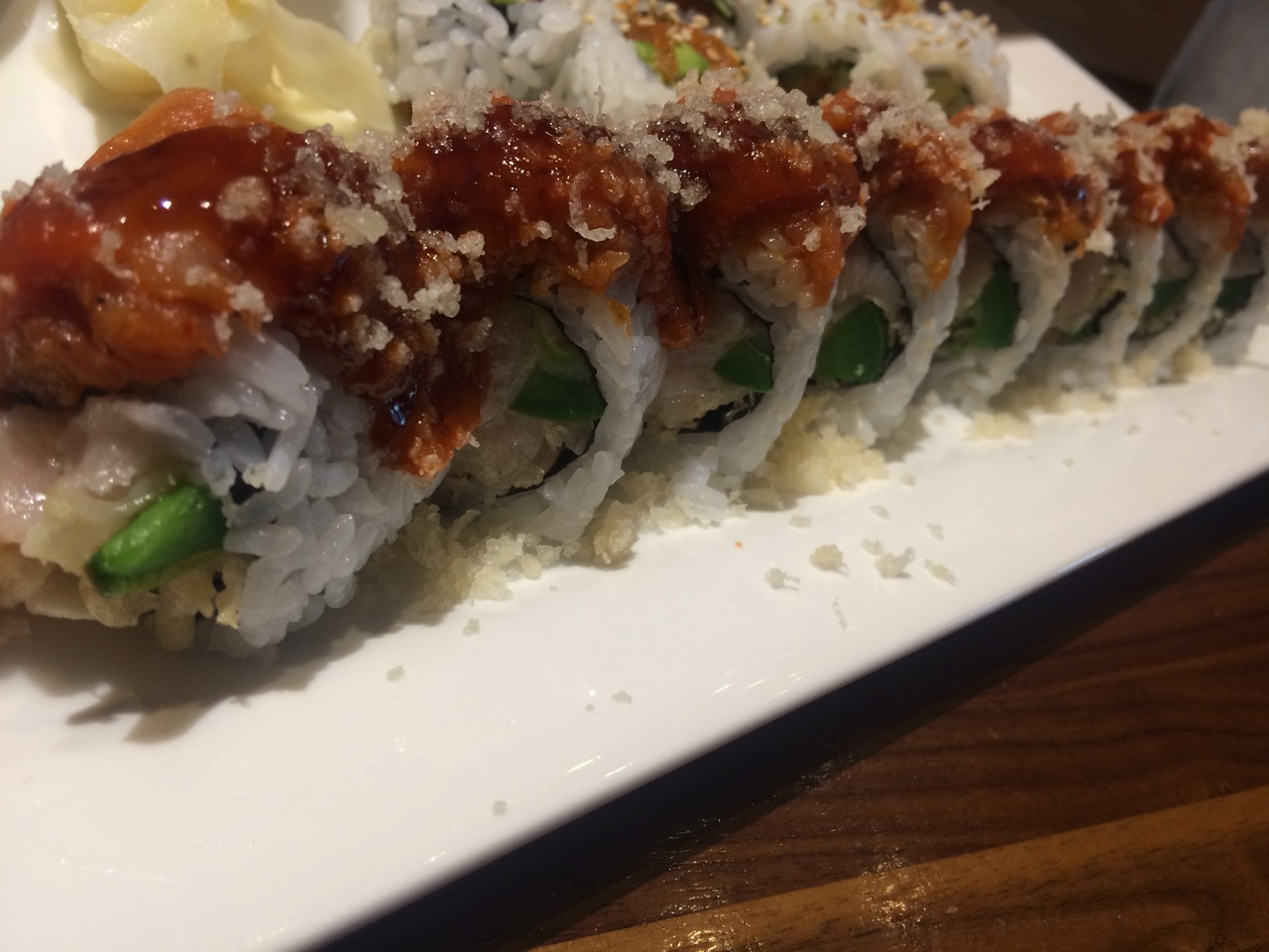 The Spicy Fire Alarm Sushi Roll at Aki Sushi - September 28 2017