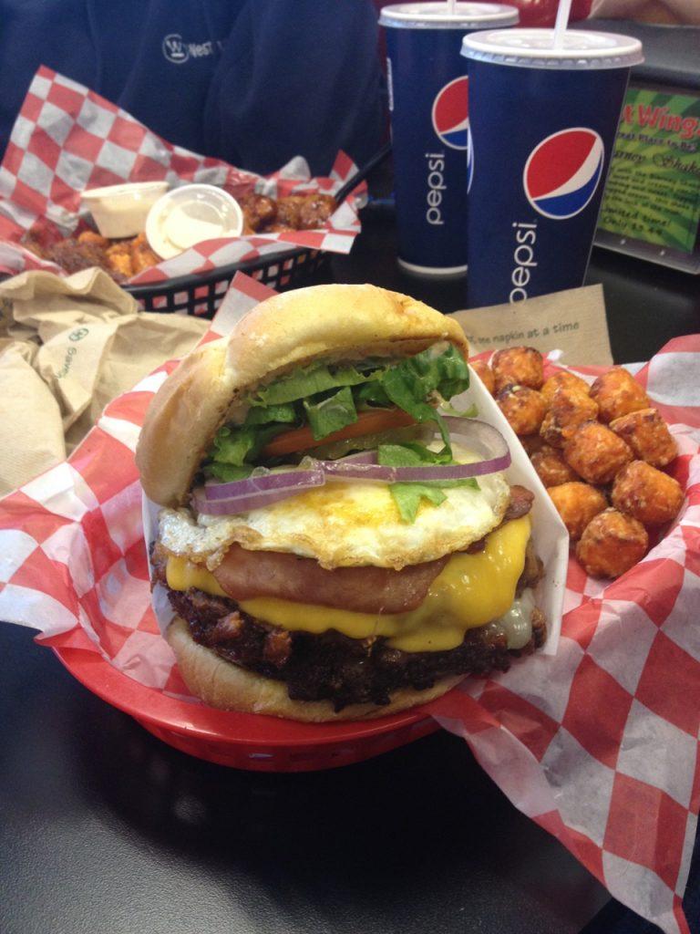Burgers at Hot Wingz – September 17 2012