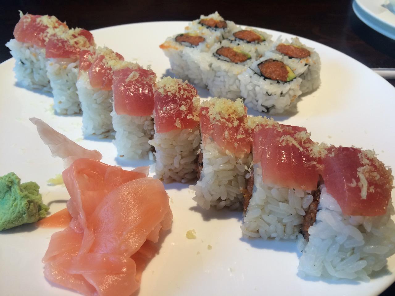 Sushi at Sakura Japanese Restaurant – November 11 2013