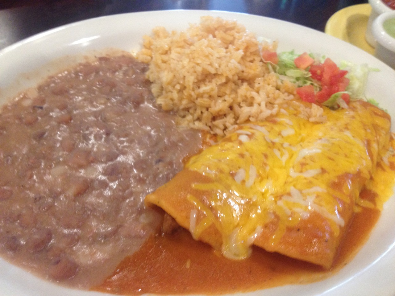 Beef Enchiladas at Fiesta Mexican Restaurant in Kennewick – April 2 2019