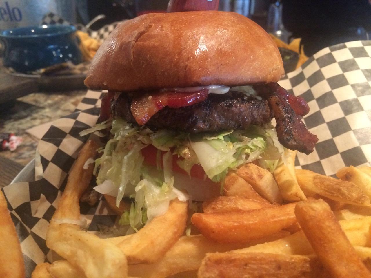 Bacon Burgers at Foodies Brick and Mortar – October 12 2016