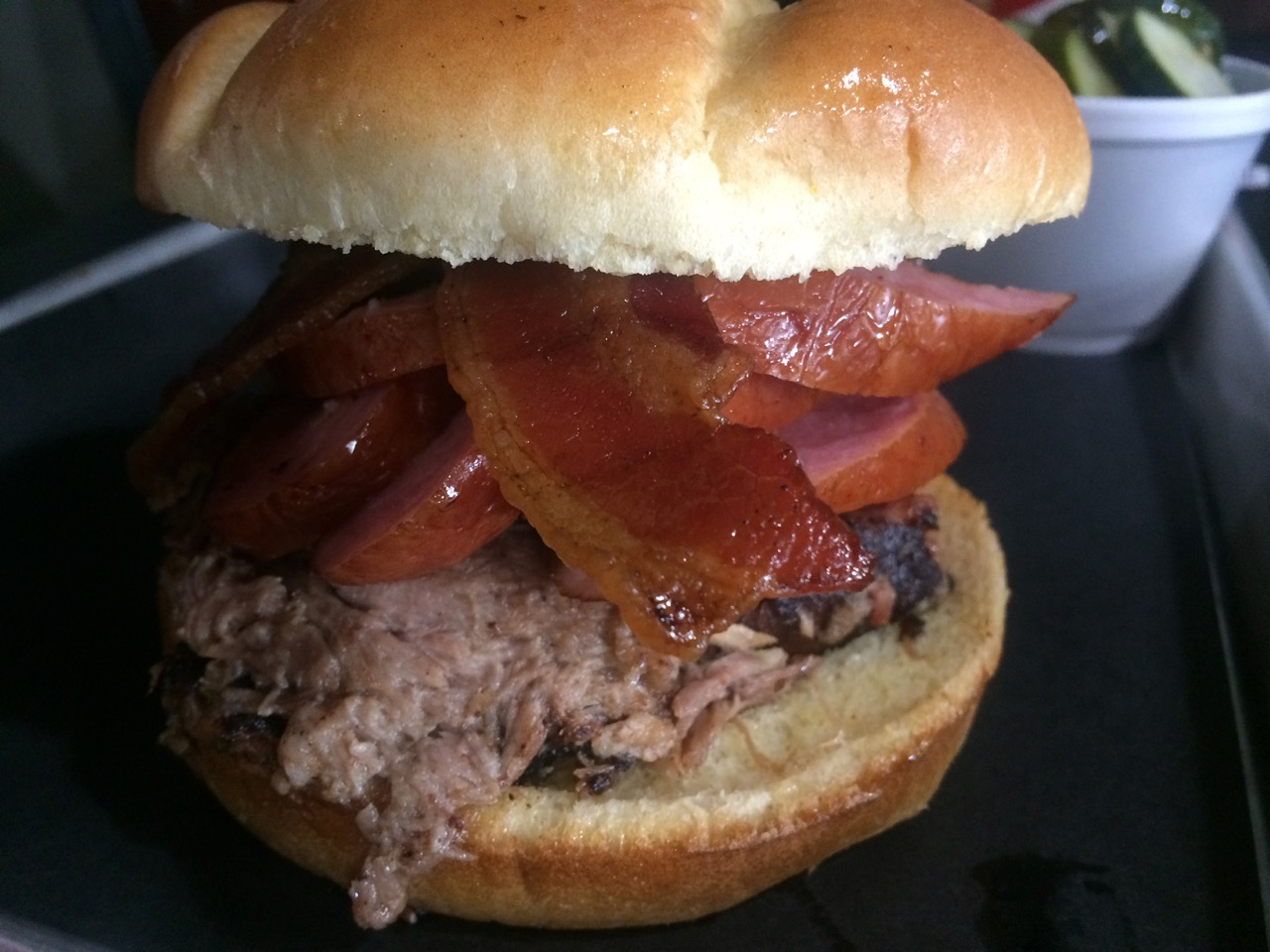 The Hogzilla Sandwich at Porters Real BBQ – September 19 2017