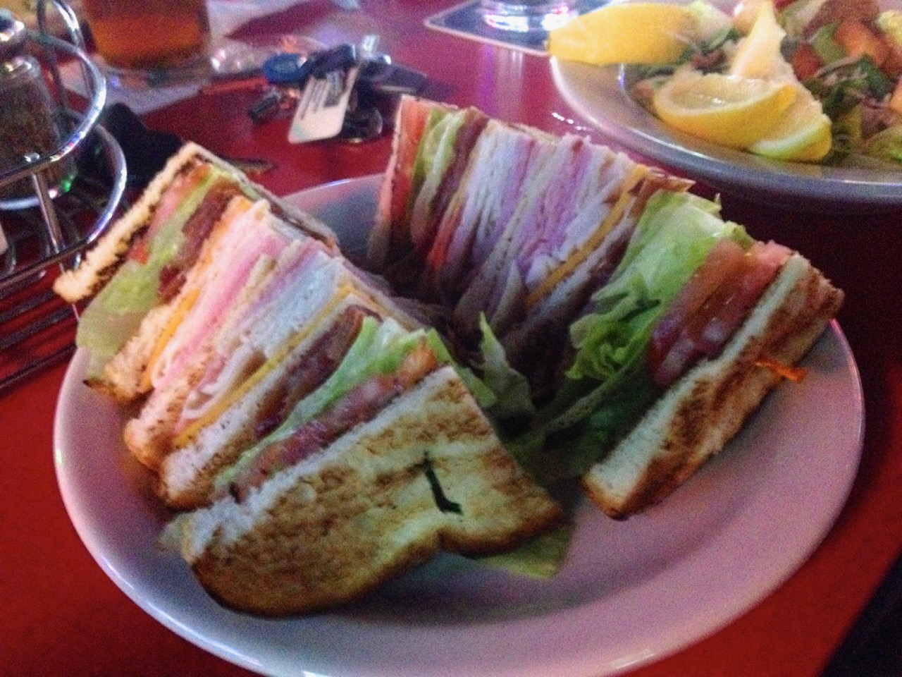The Club Sandwich at Uncle Sam's Saloon – January 1 2015