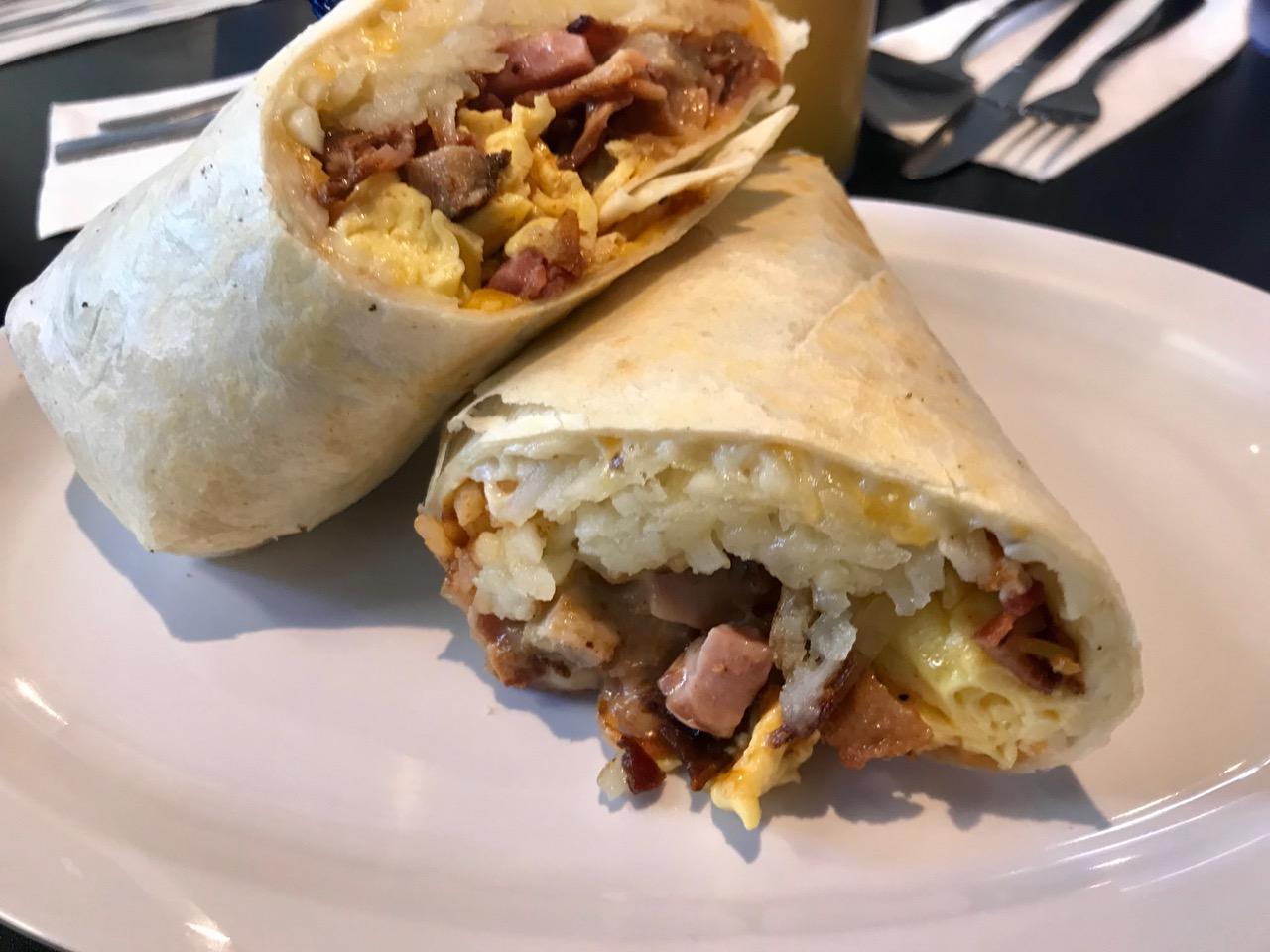 One Helluva Breakfast Burrito at Just Joel's - January 13 2018