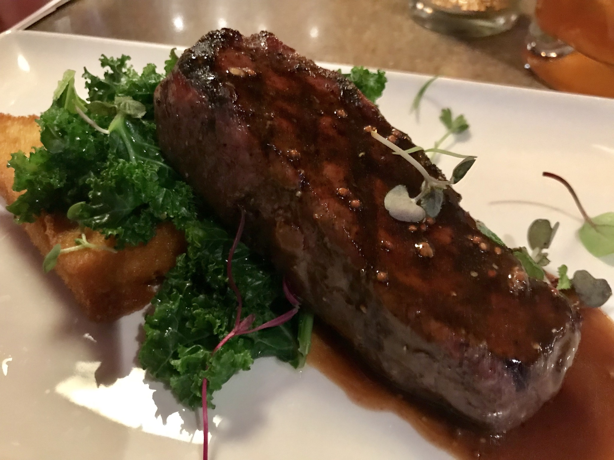 A Bison New York Strip & Delicious Scallops at Tagris - March 30 2018
