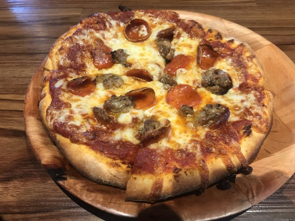 Pepperoni & Sausage Pizza at 4th Base Pizza – September 14 2018