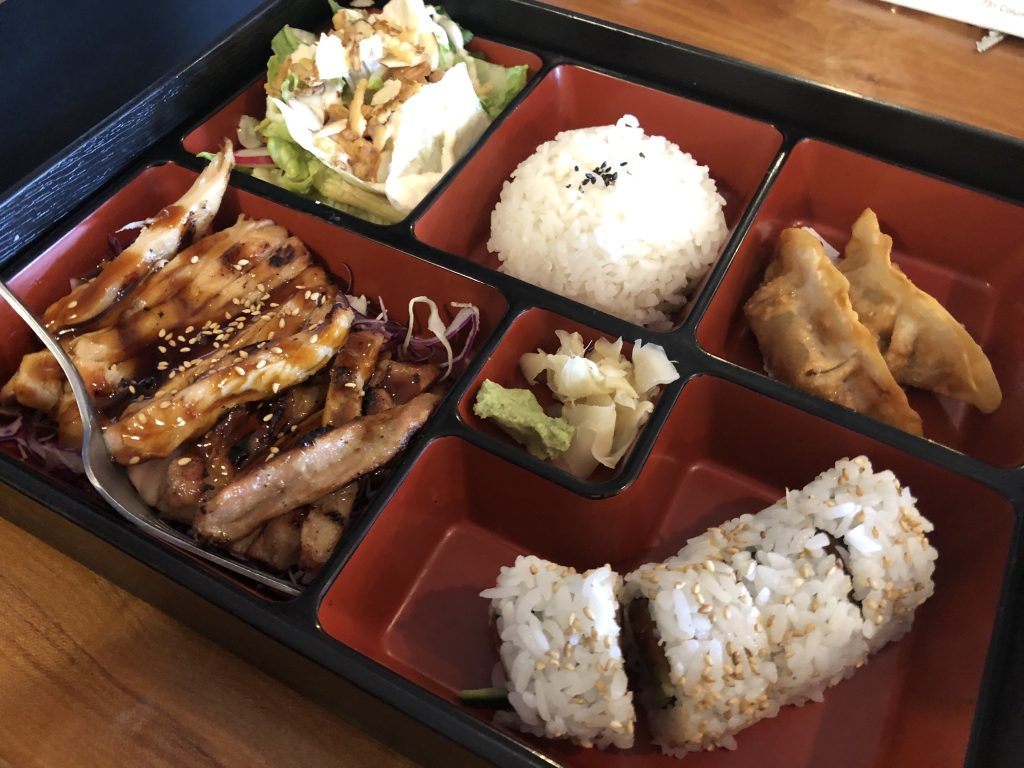 A Bento Box and Sushi at Sushi Ya in Kennewick - May 16 2019