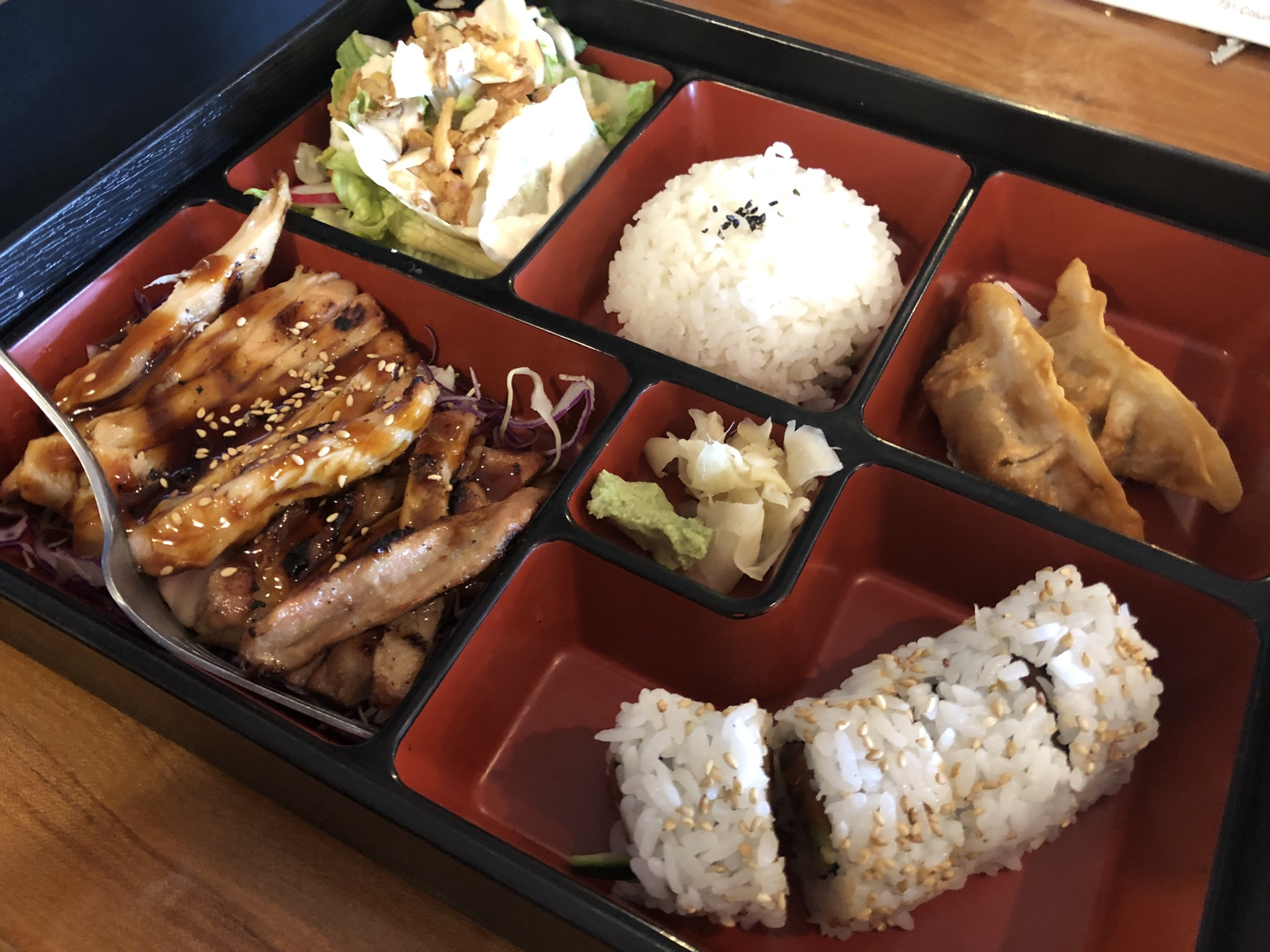 A Bento Box and Sushi at Sushi Ya in Kennewick – May 16 2019
