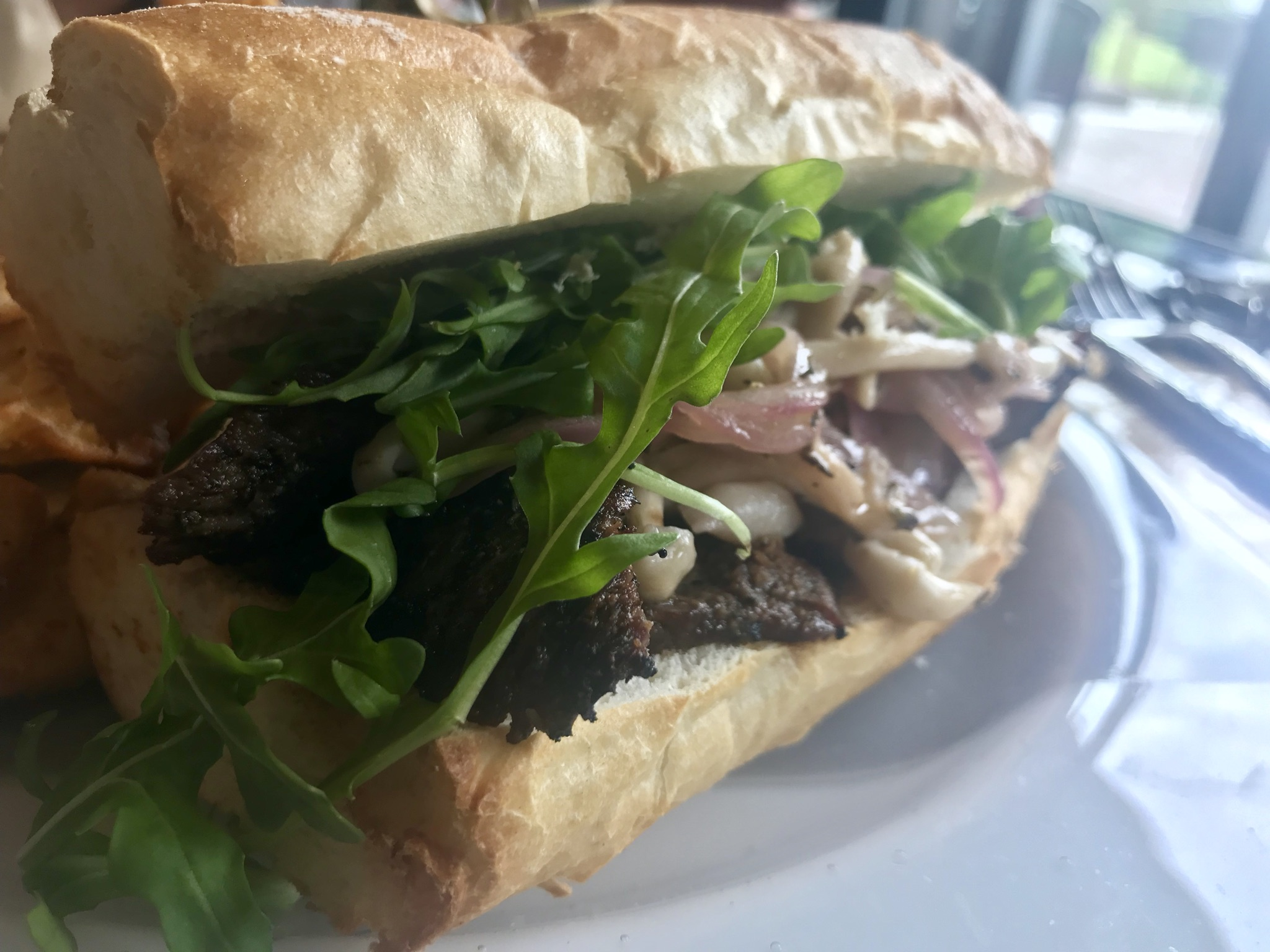 The Steak Sandwich at the Kitchen at Barnard Griffin – May 24 2019