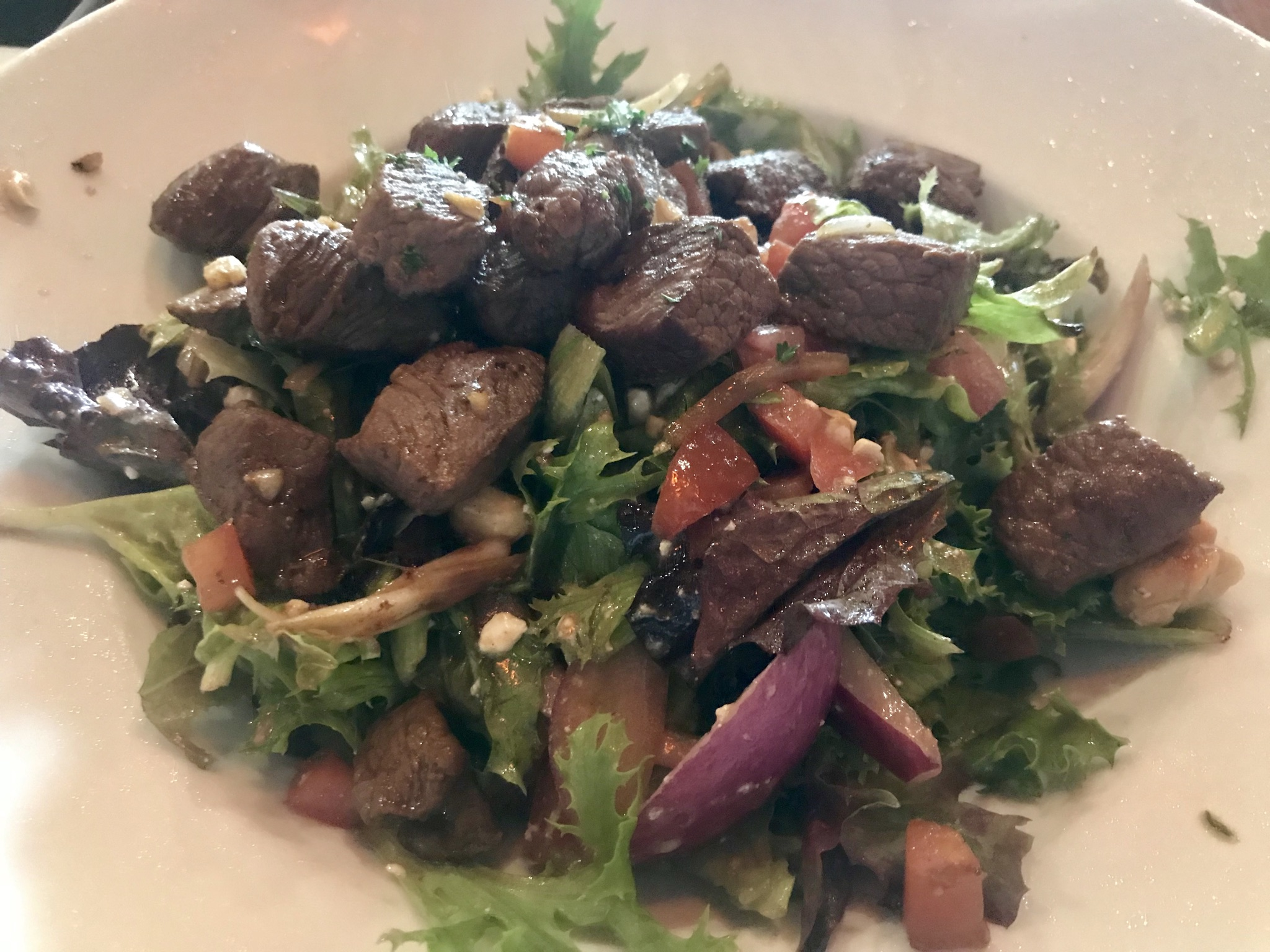Steak Salad at Twigs Bistro in Kennewick – May 8 2019